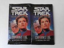 Star Trek ccg M/NM Captain's Log complete 120 card set
