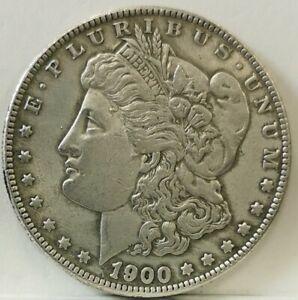 USA 1900S Morgan Dollar Scarce Coin/Gap Filler, Not Genuine, Silver Coloured