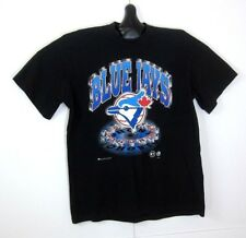 Retro Toronto Blue Jays T-Shirt Size Large Canada Vintage Baseball MLB Black