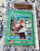 ANDRE AGASSI 1991 Netpro SP Rookie Card RC BGS 9.5 GEM Legend HOF Grand Slam $$$