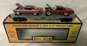 ✅MTH RAILKING AUTO CARRIER FLAT CAR ERTL 1964 CHEVY IMPALA SS 30-76013 CHEVROLET
