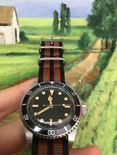 Vintage submariner homage 40mm automatic watch. 007 James Bond Goldfinger watch.