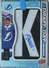 "2012-13 SP Game Used Draft Day Marks Letter ""K"" Autograph Vlad Namestnikov /35"