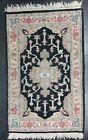 Vintage India Asian Wool Rug Runner Mandala Hand Knotted