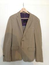 Zara Man Basic Herren Sakko Blazer Jacket Gr XL 42 beige