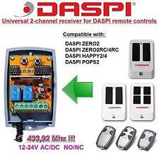 DASPI ZERO2 2RC/4RC POPS2 Compatible 2-channel Receiver 12-24V AC/DC 433.92MHz