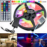 5M RGB 5050 Waterproof LED Strip light SMD 44Key Remote 12V US Power Full Kit