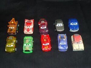micro machines x 10-Mattel Disney Pixar- Cars mini racers-very clean