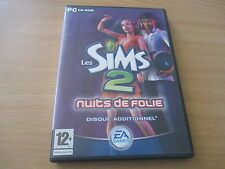 pc cd-rom les sims 2 nuits de folie disque additionnel
