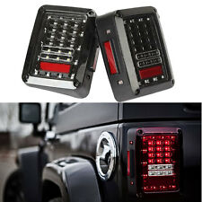 Rear Tail lights 07-16 Jeep Wrangler JK LED Brake Turn Signal Reverse Lamps Bid