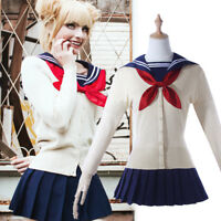 My Hero Academia Himiko Toga Shool Sweaters Cardigan Uniform JK Cosplay Costumes