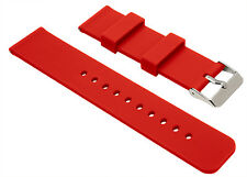 North Watch Bands 18mm Red waterproof Quick Release Rubber Watch Strap