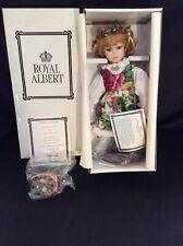 "Royal Doulton Royal Albert Old Country Roses 16"" Porcelain Doll ""Rose"" Box & Coa"