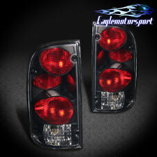 1995-2000 Toyota Tacoma Altezza Style Smoke Lens Rear Brake Tail Lights Pair