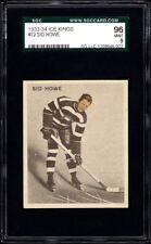 1933-34 World Wide Gum Ice Kings #72 Syd Howe HOF Rookie Card SGC 96 Mint Pop 1