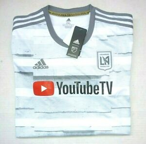 Adidas LAFC LA Football Club Men 2XL 20/21 Grey/White Away Jersey MLS Soccer New