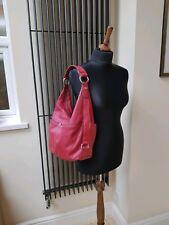 Tignanello Handbag Leather Red Beautiful Soft Leather Shoulder Hobo Bag