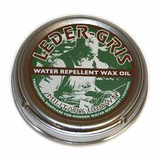 NEW - Leder Gris Wax Oil BROWN Army Altberg Boot Polish - Small 40 gram Tin
