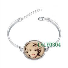 Marilyn Monroe  glass cabochon Tibet silver bangle bracelets wholesale