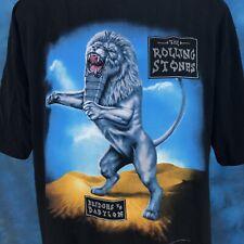 vtg 90s ROLLING STONES BRIDGES TO BABYLON EUROPE CONCERT T-Shirt XL rock tour