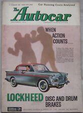 Autocar magazine 11/8/1961 featuring Perkins Diesel Hillman Minx road test