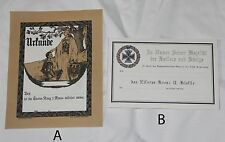 WW1 German Iron Cross 2nd Class Document