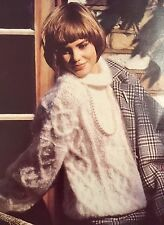 FL20 - Knitting Pattern - Lady's Mohair, Bead & Cable Pattern Jumper