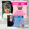 Personalised Birthday Party Gift / Teacher Polka Dot Photo Thank You Cards A6