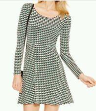 Michael Kors New Printed Fit Flare Dress Palmetto Green