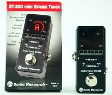 Sonic Research ST-300 Mini Stompbox Strobe Tuner New F/S EMS