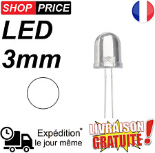 LED Diode blanche 3 mm haute luminosité white LED (NEUF)