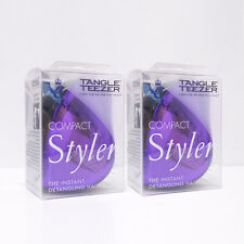 Tangle Teezer Hair Brush Compact Styler 'Purple Dazzle' (Purple and Black)-2pc