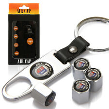 4x Silver Wheel Tire Tyre Stem Air Cover Valve Caps + Wrench Keychain For ALPINA