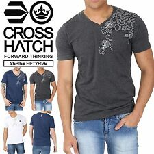 Cotton V Neck Short Sleeve Casual Shirts & Tops for Men