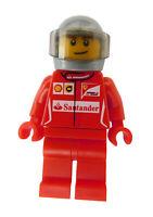 Lego Ferrari Rennfahrer (Race car driver 3) Mann sc012 Minifigur Figur City Neu