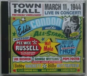 EDDIE CONDON & His All-Stars - Live at Town Hall (1944) CD New Sealed