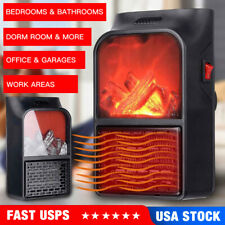 Mini Space Heater Fan for Home Office Ceramic Small Heater With Thermostat&Timer