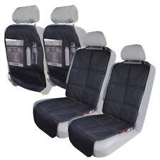 4Pack Durable Baby Child Car Seat Protector Pad + Kick Mat Backseat Organizer