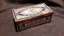 Rare ancienne boîte tôle LEVEFRE UTILE BISCUIT Nantes petit LU etiquette papier