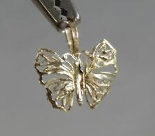 Estate 14 Karat Yellow Gold Filigree Butterfly Pendant 14K J1795