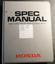 1988-1992 Honda Dealer Motorcycle, Scooter, & Atv Spec Manual (627)