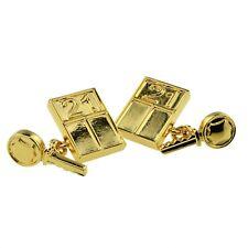 Gold Plated Music Theme Cufflinks Presented in a Box X2PSN184
