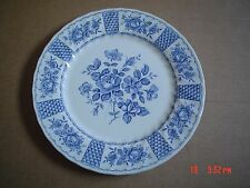 Myott Blue And White Dinner Plate MELODY Design