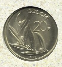 20 frank 1989 vlaams * F D C  uit muntenset *