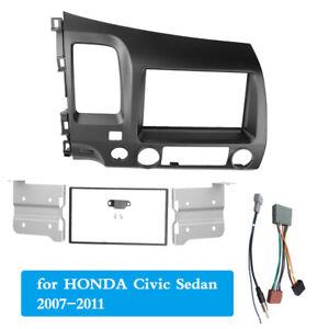 Double Din Radio Fascia Fit for Honda Civic Sedan RHD Stereo Panel Frame Bezel