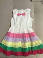 New Baby Girl Pumpking Patch White Puffy Dress 3T With Pink Purple Ruffles
