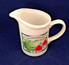 "New listing Giftcraft Watermelon Small 6"" 1 qt. Pitcher Htf WhiTe Ceramic Watermelon F&B"