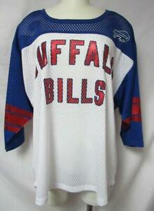 Buffalo Bills Womens Size XL Mesh Jersey Shirt with Foil Screen Print B4 115
