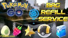 Pokemon Go Bag Refill - Pokeballs - Potions - Revives - Berries - Evo items!