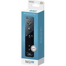 Nintendo Wii Remote Plus - Black (Wii/Wii U) 100% Official Brand New